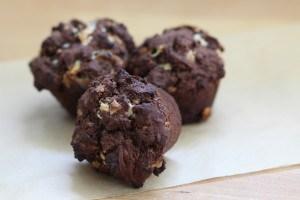 Sehr schokoladig - Schokomuffins. Bild: Tina Grube